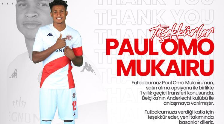 Antalya Mukairu'yu Anderlecht'e kiralandı