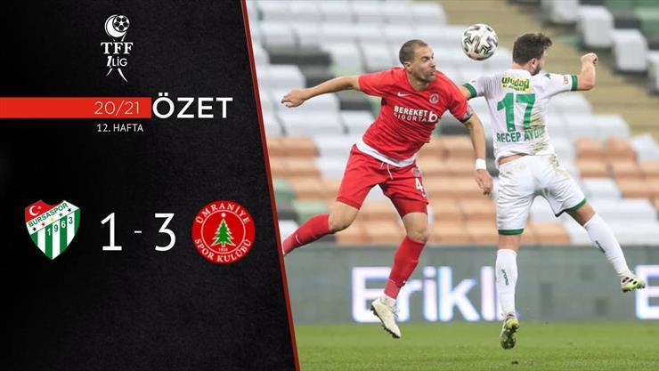 ÖZET | Bursaspor 1-3 BS Ümraniyespor