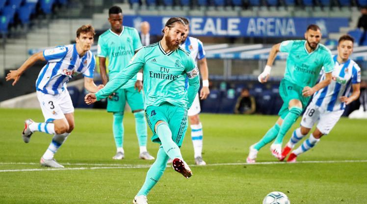 Ramos rekor kırdı, Real liderliğe oturdu