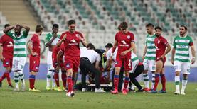 Bursaspor-Altınordu maçında üzücü sakatlık
