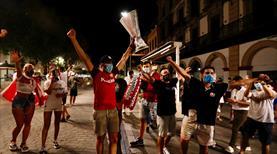 Sevilla taraftarı sokaklara döküldü
