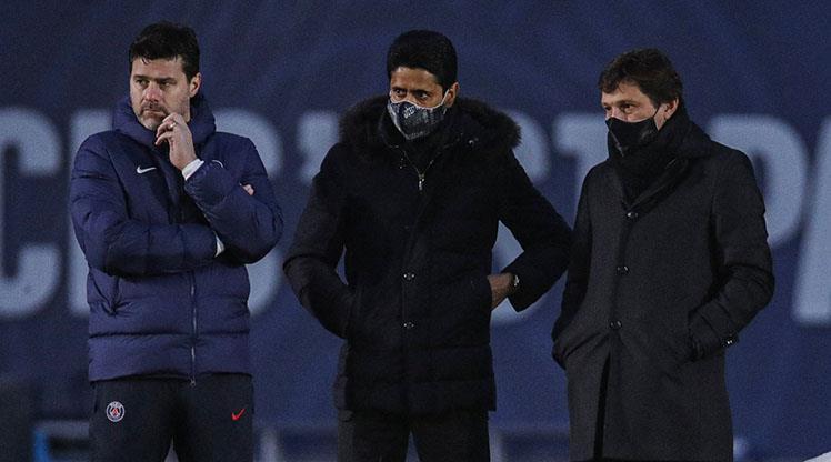 PSG Başkanı Nasser Al-Khelaifi, Pochettino'nun ilk idmanını izledi