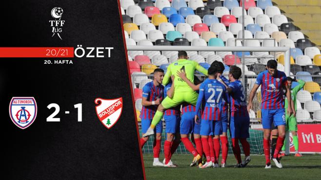 ÖZET   Altınordu 2-1 Beypiliç Boluspor
