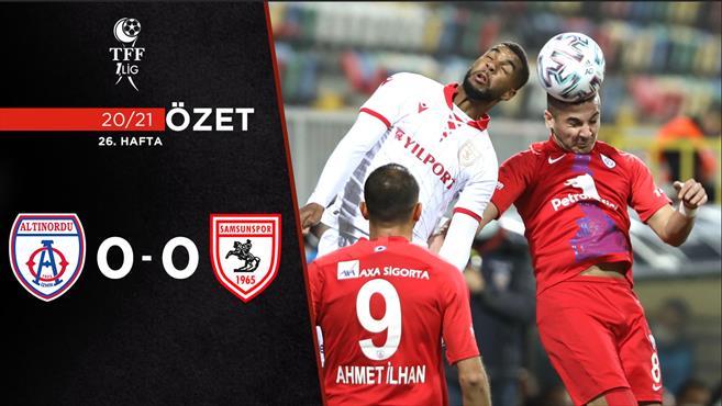 ÖZET | Altınordu 0-0 Yılport Samsunspor