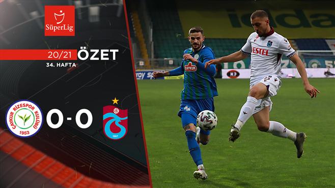 ÖZET | Çaykur Rizespor 0-0 Trabzonspor
