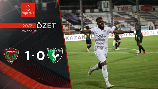 ÖZET   Atakaş Hatayspor 1-0 Y. Denizlispor