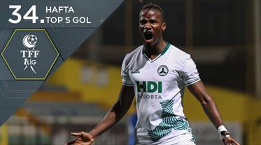 İZLE | TFF 1. Lig'de haftanın en güzel 5 golü
