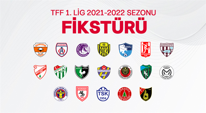 İşte hafta hafta TFF 1. Lig fikstürü