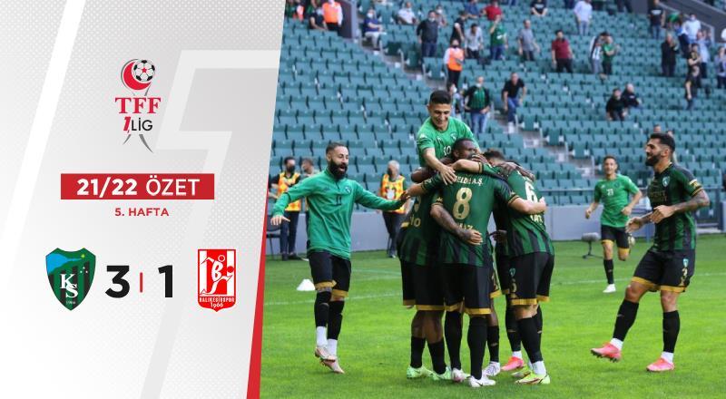 ÖZET | Kocaelispor 3-1 Balıkesirspor