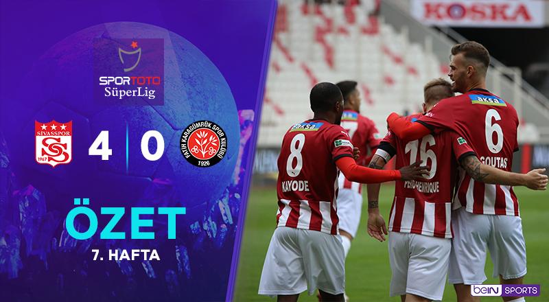 ÖZET | DG Sivasspor 4-0 V. F. Karagümrük