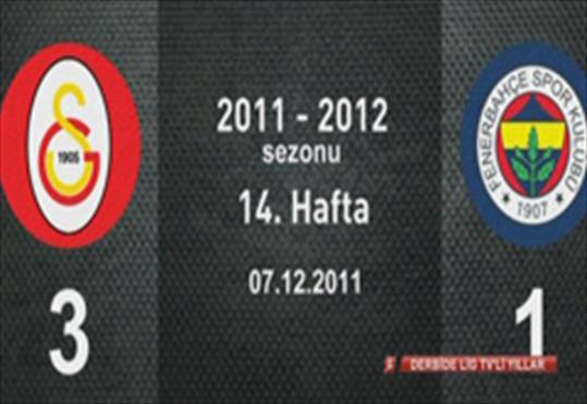 Galatasaray-Fenerbahçe: 3-1