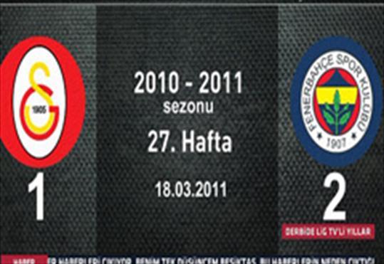Galatasaray-Fenerbahçe: 1-2